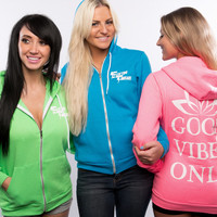 Good Vibes Only Zip-up Hoodie!