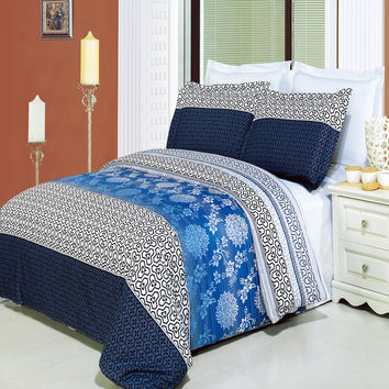 Lydia Printed Egyptian Cotton 8-Piece Bed in a bag