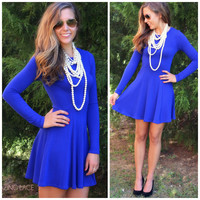 Eye Of The Tiger Royal Blue Dress