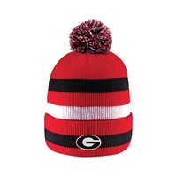 Georgia Bulldogs Knit Cuff Pom Hat | UGA Knit Cuff Pom Hat | Georgia Bulldogs Beanie Hat