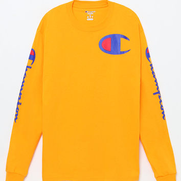 Champion Script Gold Long Sleeve T-Shirt at PacSun.com