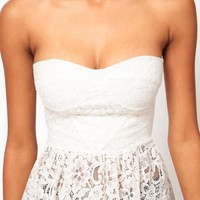 ASOS Corset Top in Lace with Peplum