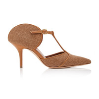 Imogen Linen And Leather Pumps | Moda Operandi