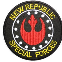 "STAR WARS New Republic Special Forces Embroidered Patch 2.9""/7.5cm"
