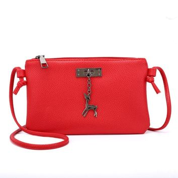 Sunyastor Womens Leather Crossbody Bag Small Deer Shoulder Bags Messenger Bag Coin Bag Mobile Phone Package Multiple Colour