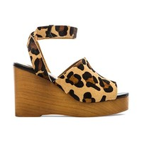 SOLES X SKIN Trey Cow Hair Wedge in Brown