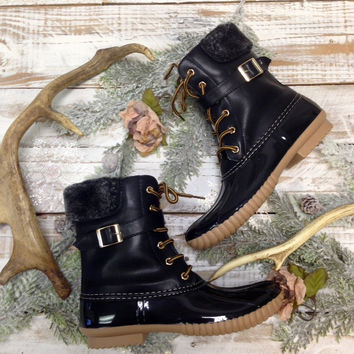 Glacier all weather boots, fleece lined with rubber sole | SB1