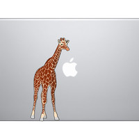 "Giraffe Vinyl Decal Sticker - Skin MacBook Pro Air 13"" 15"" 17"" Laptop iphone Jumgle Animal Kingdom Sahara Africa"