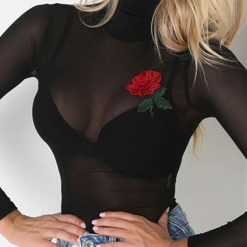 Vest Spaghetti Strap Bra Sexy Embroidery Floral Fashion Stylish Summer One-piece [10488993411]