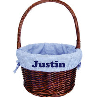 Monogrammed Easter Basket Wicker Personalized