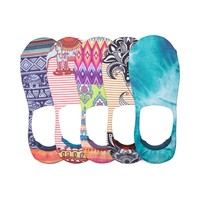 Womens Indian Print Casual 5Pk Liners