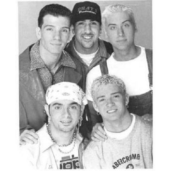 Nsync Poster Standup 4inx6in black and white