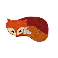Fox Shaped Coir Welcome Mat