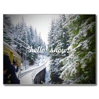Hello! Snow! Postcard