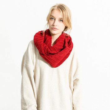 Women Thick Knitted O-ring Collar Scarves