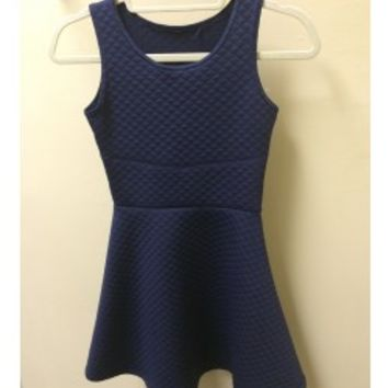 CHERYL KIDS Navy Quilted Dress - Tweens & Juniors