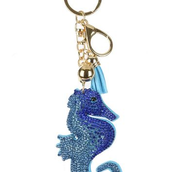 Sea Horse Stuffed Pillow Key Chain