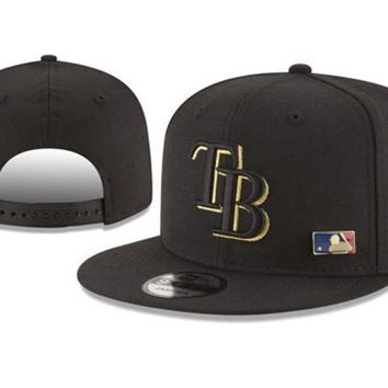 New Arrival New Era Black Cap MLB Baseball Fitted Hat-7