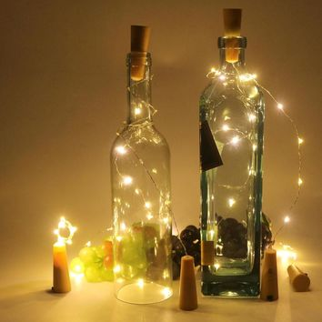 10 LED Copper Wire String Light with Bottle Stopper for Glass Craft Bottle.
