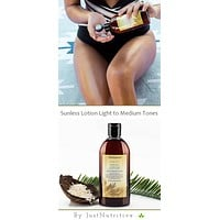 Sunless Tanning Lotion - Light to Medium tones