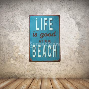 Life Quotations Metal Tin Sheet Metal Sign Vintage Picture Wall Decor Plaque
