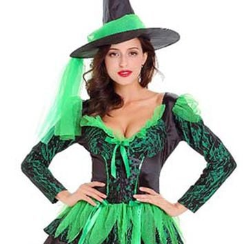 Atomic Wicked Green Witch Costume