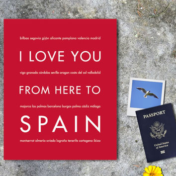 SPAIN Travel Art Print | Gift Idea | HopSkipJumpPaper