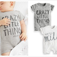 New 2016 cute baby rompers short sleeved cotton baby clothes high quality newborn baby boy and girl jumpsuit infant clothing