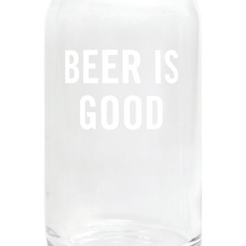 Beer is Good Beer Glasses (Set of 2)