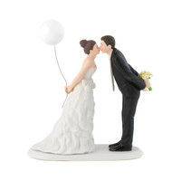 Leaning in for a Kiss – Balloon Wedding Cake Topper