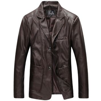 Spring Male Jackets  Plus Size 5XL 6XL Chaquetas Moto Leather Jackets Men Slim Jaqueta De Couro Masculina High Quality