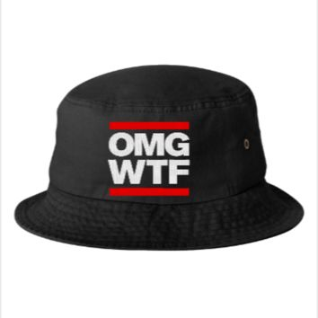 OMG WTF EMBROIDERY HAT  - Bucket Hat