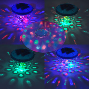 Underwater Disco Aqua Glow Floating Led Light Swim Show Pond Pool Spa Tub Waterproof Lamps