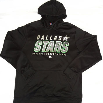 Dallas Stars Majestic E-Systems Performance Pullover Hooded Sweatshirt Size L