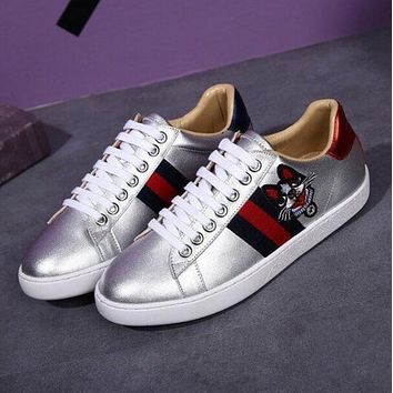 Gucci Classic Popular Women Men Casual Embroidery Dog Pattern Sneakers Sport Shoes I13144-79