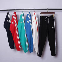 Adidas Fashion Casual Stripe Drawstring Sport Running Pants Trousers Sweatpants