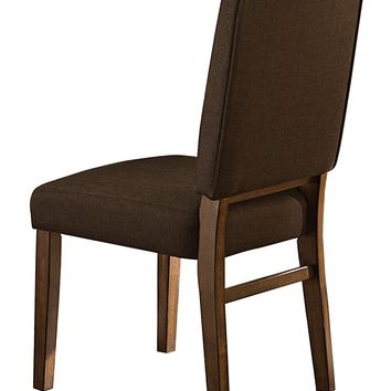 Wood & Fabric Dining Side Chair With Comfortable Padding, Set of 2