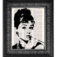 AUDREY HEPBURN BREAKFAST AT TIFFANY'S Dictionary Art Print