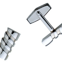 Visol Twist Stainless Steel Cufflinks