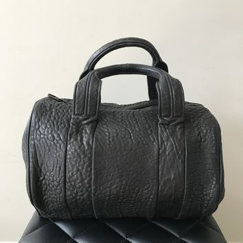 Alexander Wang Black Pebbled Rocco