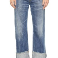 Parker Relaxed Cuffed Crop Jeans