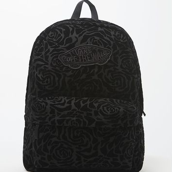Vans Realm Black School Backpack - Womens Backpack - Black/Black - One