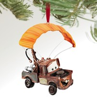 Licensed cool 2011 Disney Store CARS 2 Tow Mater Parachute Canopy Rockets Christmas Ornament
