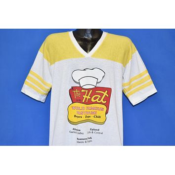 80s The Hat World Famous Pastrami Jersey t-shirt Large