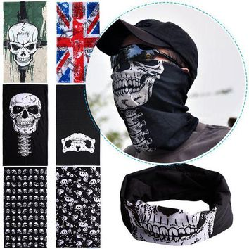 ac DCCKO2Q Hot Punk New 3 in1 Men Women Unisex Skull Hat Neck Warmer Tube Snood Face Mask Cap bonnet Scarf Beanie Balaclava Halloween Cheap