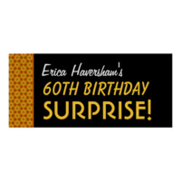 Surprise 40th Birthday or Any Year Gold Stars Posters