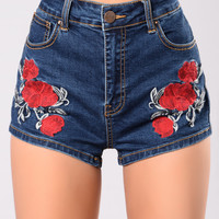 Bleeding Love Shorts - Denim