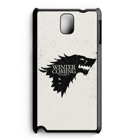 Game Of Thrones Stark - Winter Is Coming Samsung Galaxy Note 3 Case