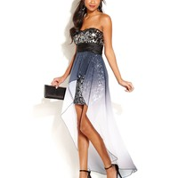 Speechless Juniors' Sequin High-Low Dress