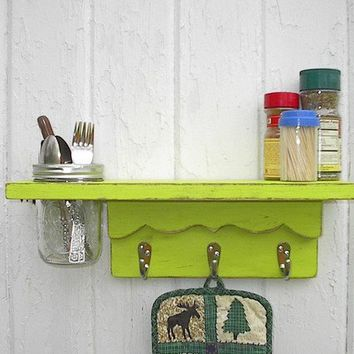 Wall shelf home organizer shabby chic by Twigs2Whirligigs on Etsy